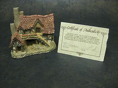 """Vintage David Winter """"The Bothy"""" Village Cottage With COA 1983"""