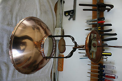 Vintage 1950's copper light chandelier - USED