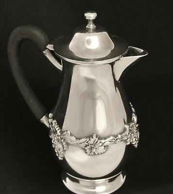 Vintage Silver Plate Grape Design Victorian Plate Syrup Pitcher Creamer
