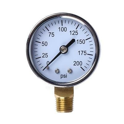 "1/4"" NPT Air Compressor Hydraulic Pressure Gauge 0-200 PSI Side Mount 2"" #Cu3"
