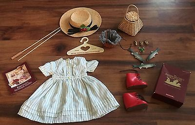 American Girl Doll KIRSTEN'S Summer Fishing Dress Outfit W/ Accessories Set Rare