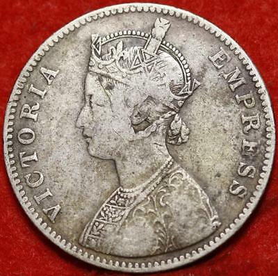1885 India Rupee Silver Foreign Coin Free S/H