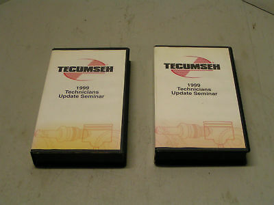 Tecumseh 1999 Technicians Update Seminar #696257 Set Of 2 Vhs Tapes - Tecumseh U