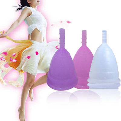 Women's Reusable Silicone Menstrual Cup Period Soft Medical Diva Cups M/L Sizes