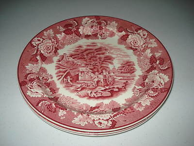 Lot Of Three Enoch Woods Woods Ware English Scenery Dinner Plates