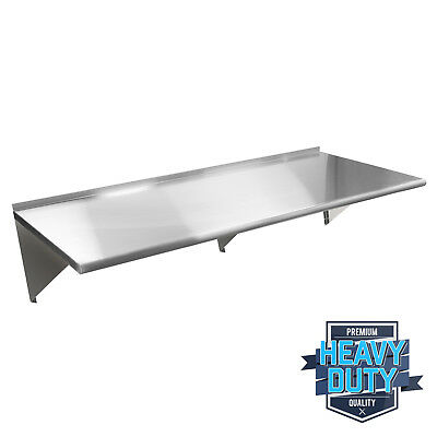 "Stainless Steel Commercial Kitchen Wall Shelf Restaurant Shelving - 18"" x 60"""