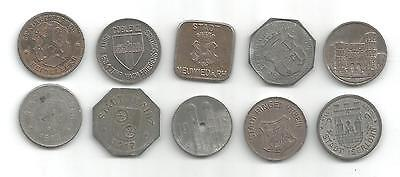 Lot Of 10 Different German Notgeld Coins (Gng 243)