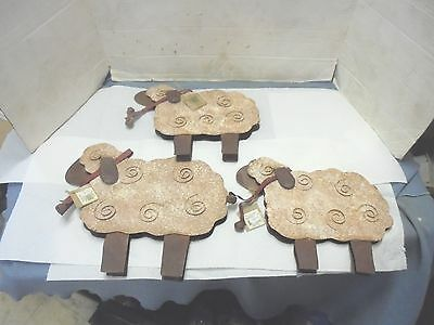 3 metal decorative sheep nutcracker designs wall hangers