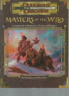 Dungeons and Dragons Masters of the Wild a Guidebook to Barbarians Druids Ranger