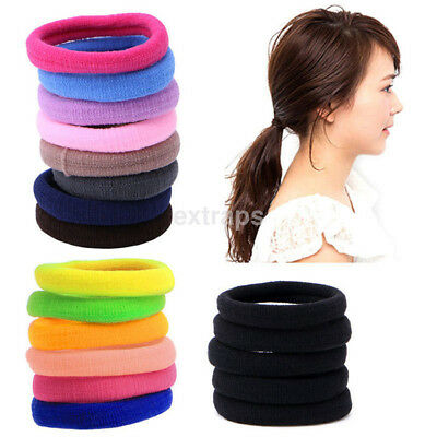50Pcs Kids Girl Lady Elastic Rubber Hair Bands Ponytail Holder Head Rope Ties