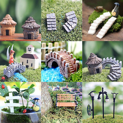 LATEST Miniature Fairy Garden Ornament Decor Pot Craft Accessories Dollhouse DIY