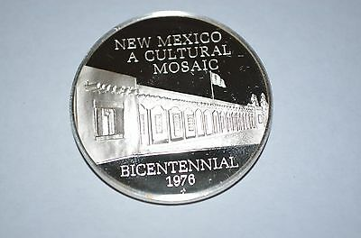 1973 Franklin Mint Sterling Silver 50 State Bicentennial Medal -New Mexico