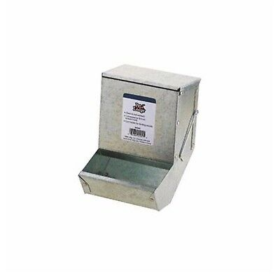 Miller Manufacturing Rabbit Feeder with Metal Bottom and Lid Rust Resistant 5in