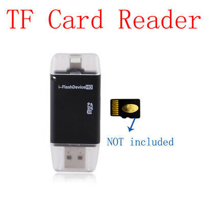 Black USB Flash Drive TF Card Reader For iPhone X 8 7 6S 6 Plus 5S FOR iPad PC