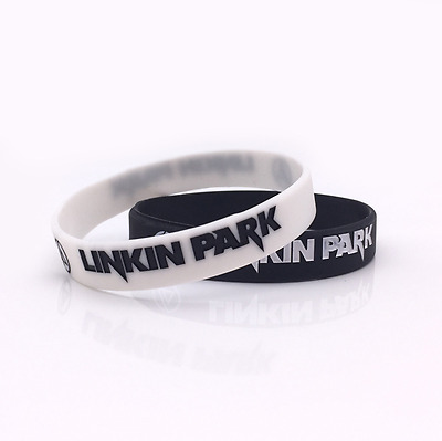 souvenir Linkin Park rock band Silicone Rubber Wristband bracelet jewelry gift