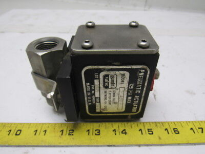 """Gemini A512 Double Acting In Line Pneumatic Actuator 125PSI W/1/2"""" SS Valve"""