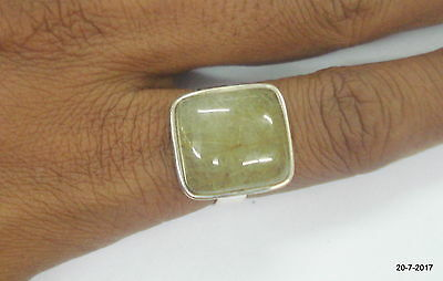 sterling silver ring golden rutile gemstone ring cocktail ring handmade