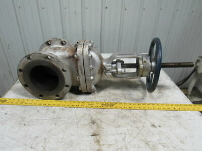 "Powell B16.34 Cl 150 6"" Flanged Iron Gate Valve Broken Hand Wheel"