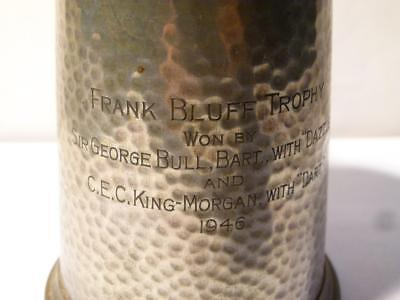 1946 FRANK BLUFF TROPHY Won by Sir George Bull Bart DAZZLE Pewter Tankard #P6