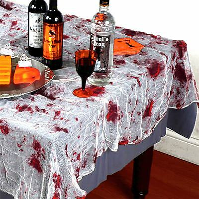 Halloween Tableware Party Decorations Blood Stained Table cloth Cover Creepy