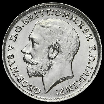 1913 George V Silver Threepence, A/UNC