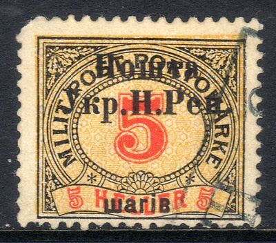 West Ukraine: 1919 5sh on 5h. post. due used RPSL cert