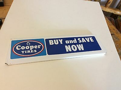 COOPER tires metal advertising sign  nice!