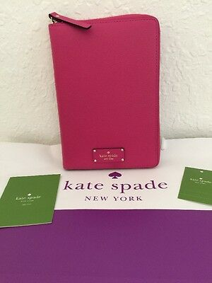 NWT Kate Spade Pink Leather Grove Street 2017 Personal Zip Organizer Planner