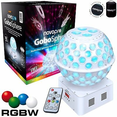 Ibiza DJ Light RGBW LED Starball Stratosphere Mirrorball Effect & Projected Gobo
