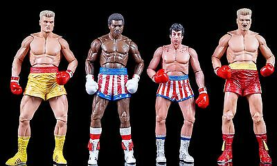 ROCKY IV Action Figure Series 40th Anniversary Rocky Apollo - Creed - Ivan Drago