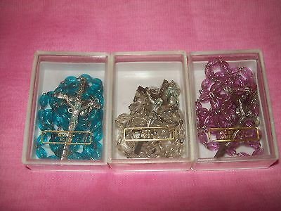 Lot of 3 New Italian Birth Month Rosaries Rosary March April February