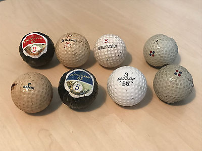 Small Lot of Vintage Golf Balls inc Wrapped, UK-Pro & 2 x Remains