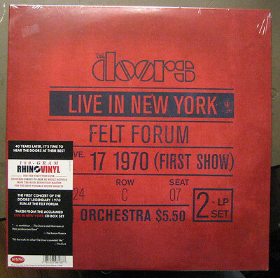 "The Doors ""live In New York January 17, 1970 First Show"" - 2Lp - Foc - 180 Gramm"