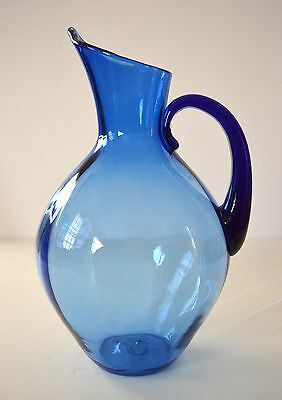 vintage BLENKO #991 blue pitcher