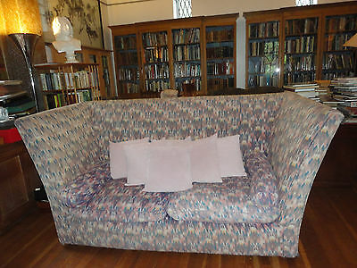 Vintage antique knole settee style CONRAN 1989 indian cotton loose covers sofa