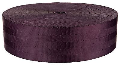 2 Inch Plum Seat-belt Polyester Webbing Closeout, 5 Yards
