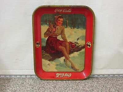 Vintage 1941 Coca Cola Co Art Works Tray Coshocton Oh