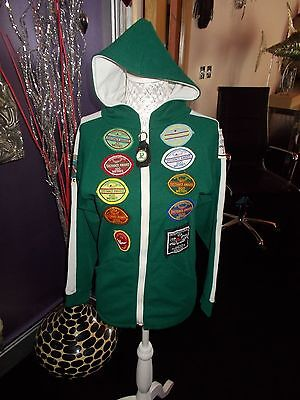 Youth Pre 70S Vintage Hoodie Rugby Swimming Club G Con Badges Collectable 30-32