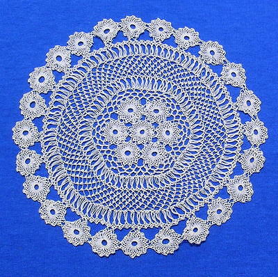 Antique  Armenian Needle Knotted Lace Doily    A