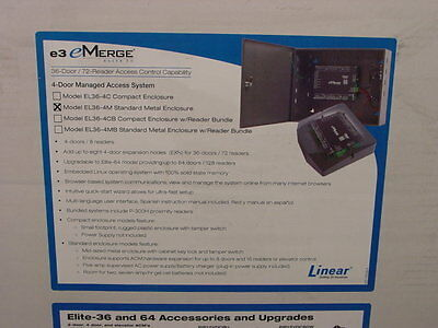 Linear Corp 620-100258 e3 eMerge EL36-4M Access Control System Sealed
