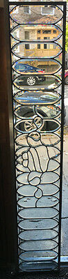 "Antique Victorian Beveled Glass Transom Window 72"" by 13"" Circa 1900"