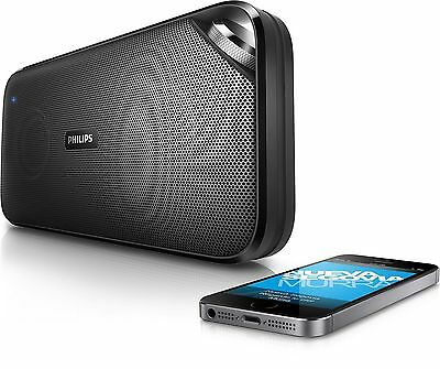 Philips BT3500B/37 Bluetooth NFC Wireless Portable Speaker with Mic- Black
