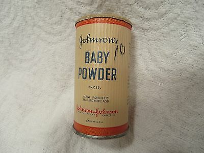 Vintage Johnson's Baby Powder Wartime Container 1 3/4 oz