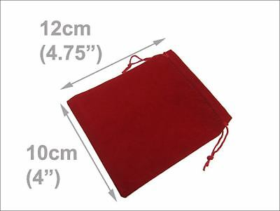 """8 pcs Burgundy Velvet Gift Pouches drawstring Jewelry Bags, 4""""x 4.75"""" inches"""