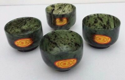 Set of Four Luminous Jade Cups - Wine