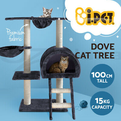i.Pet Cat Scratching Tree Post Scratcher Pole Gym Toy Furniture Multilevel 123cm