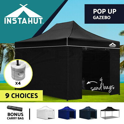 Instahut 3x4.5m Gazebo Outdoor Pop Up Wedding Tent Folding Marquee Party Camping