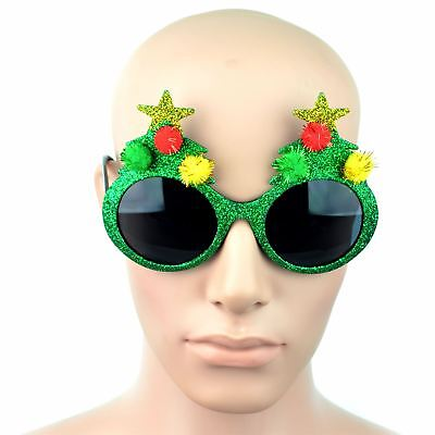 Christmas Glasses One Size Fancy Xmas Dress Novelty Sunglasses Party Accessories