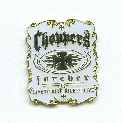 Choppers Forever Biker Motorrad USA Fan Metall Button Badge Pin Anstecker 0035