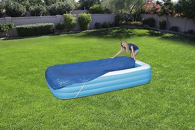 "Bestway Rectangular Swimming Paddling Pool Cover 305 x 183cm 120"" x 72"" - Blue"